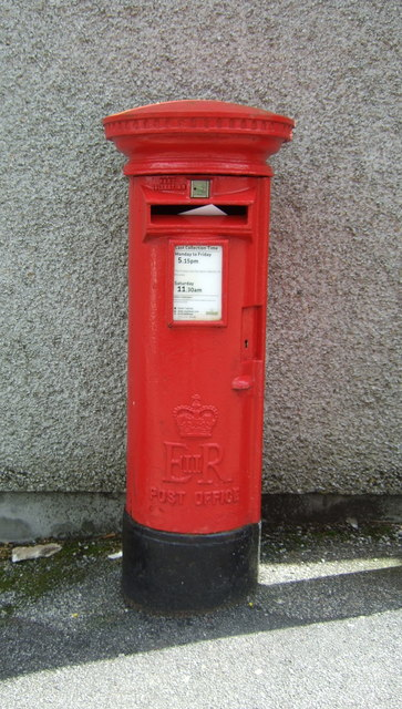 Elizabeth II postbox outside Post Office on Glasney Road, Falmouth