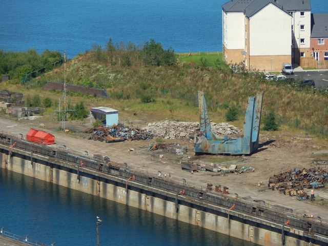 Remains of a Dry Dock crane at Inchgreen