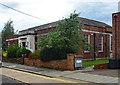TQ2192 : Mill Hill public library, Hartley Avenue by Julian Osley