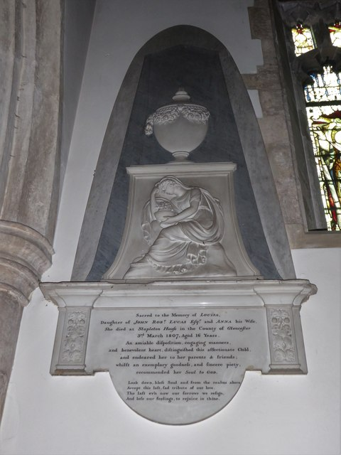 All Saints, Wraxall: memorial (f)