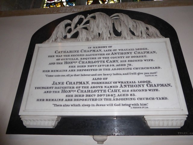 All Saints, Wraxall: memorial (l)