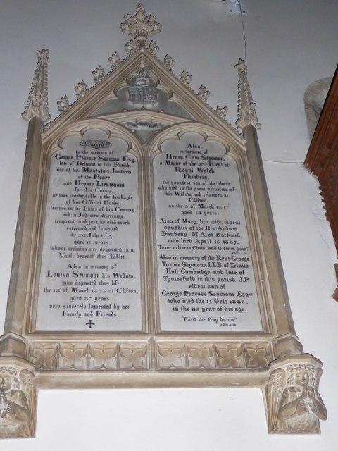 All Saints, Wraxall: memorial (o)
