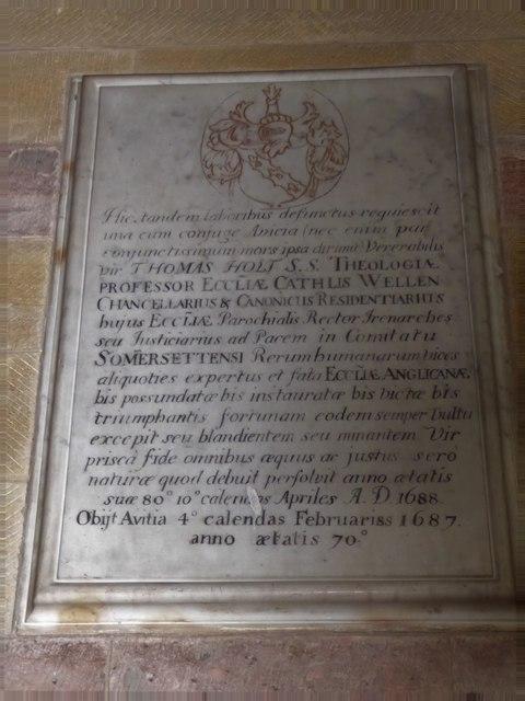 All Saints, Wraxall: memorial (q)