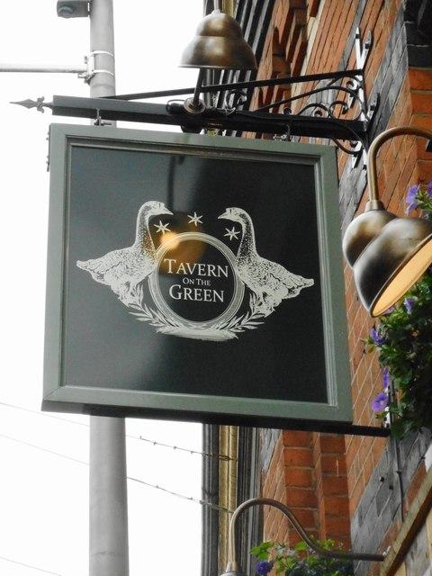 Pub sign, Tavern on the Green
