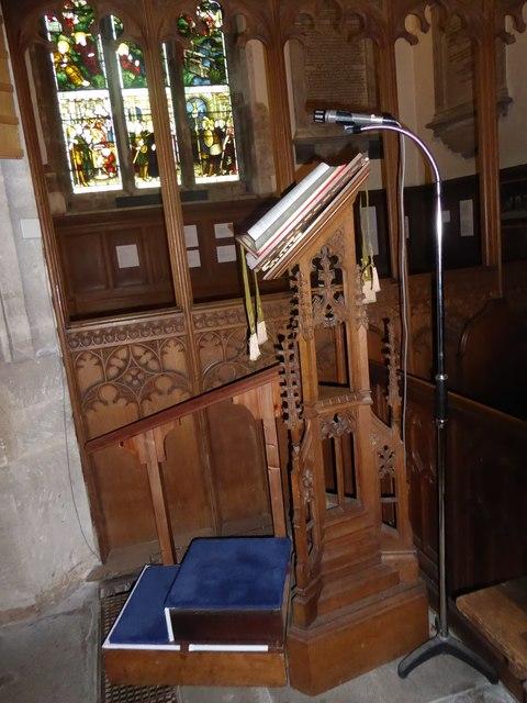 All Saints, Wraxall: lectern