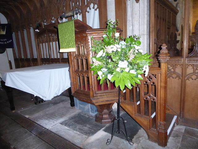 All Saints, Wraxall: pulpit