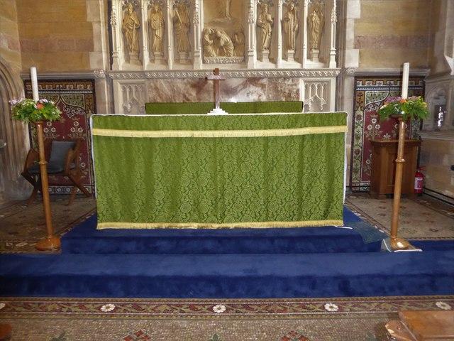 All Saints, Wraxall: main altar