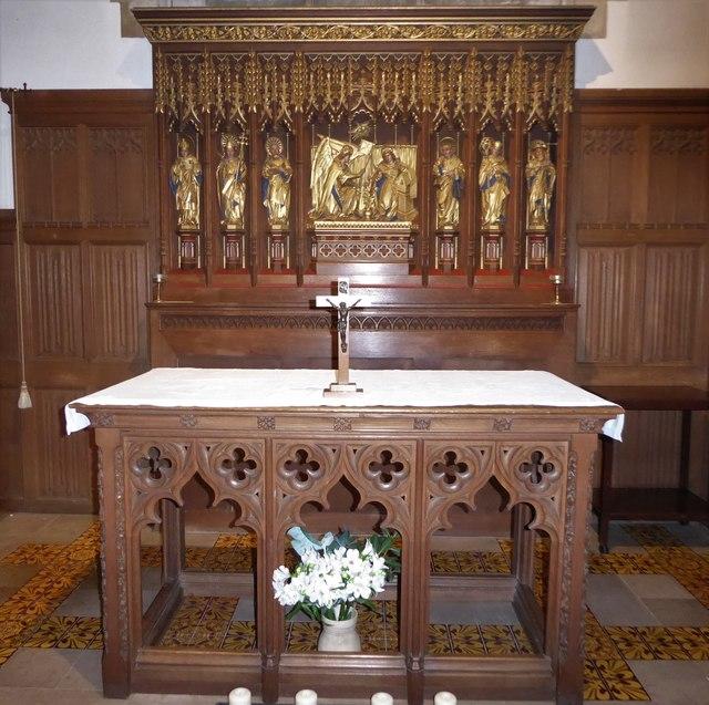 All Saints, Wraxall: side altar