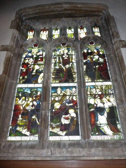 All Saints, Wraxall: stained glass window (b)
