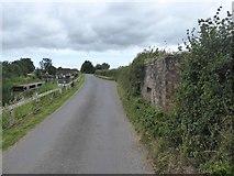 ST3029 : Pillbox by road near Higher Lock by David Smith
