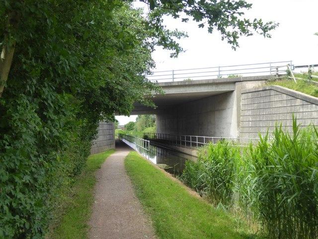 M5 bridge over Bridgwater and Taunton Canal