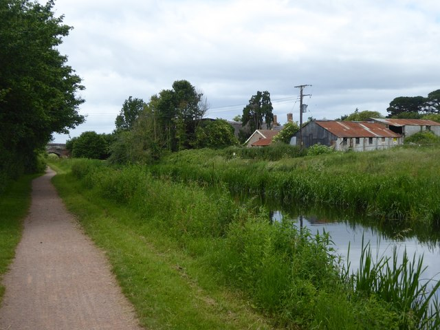 Bridgwater and Taunton Canal east of Hyde Farm