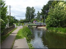 ST2526 : Swing bridge at Bathpool over Bridgwater and Taunton Canal by David Smith