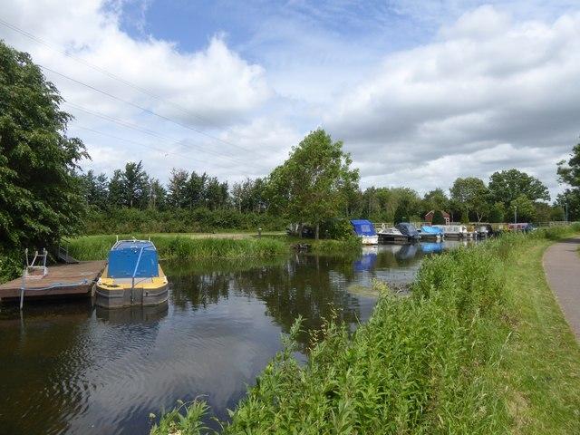 Boats moored at Bathpool