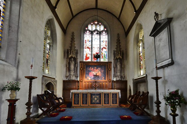 Purton, St. Mary's Church: The chancel restored by Butterfield in c19th