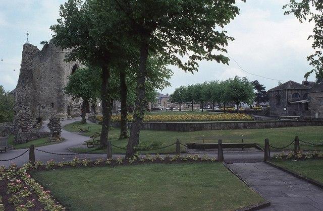 The ruins of Knaresborough Castle