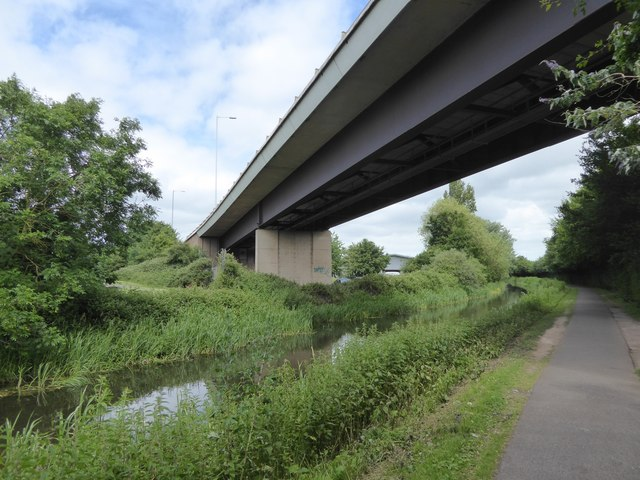 Under the A358 by the Bridgwater and Taunton Canal