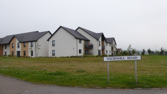 New housing at Thornhill Road, New Elgin