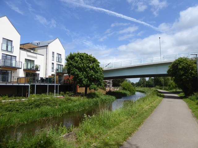 New (in 2017) bridge over Bridgwater and Taunton Canal