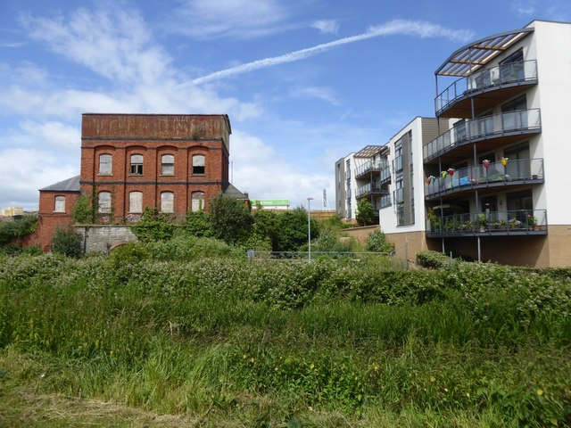 Old and new by canal in Taunton