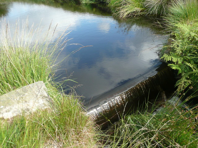 Weir on Solomon Cutting,, Chelburn Moor