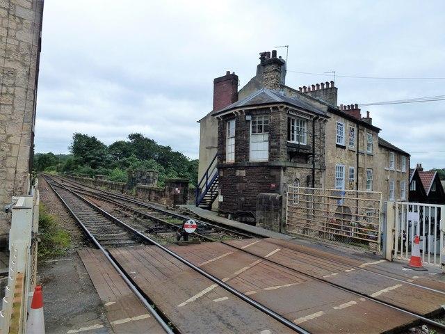 Railway tracks on the Knaresborough Viaduct