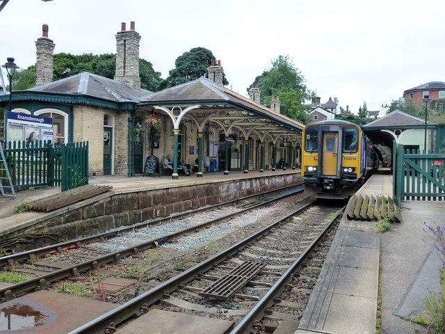 Train in Knaresborough Station