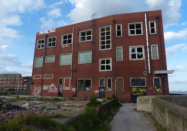 Derelict building at St Andrews Quay