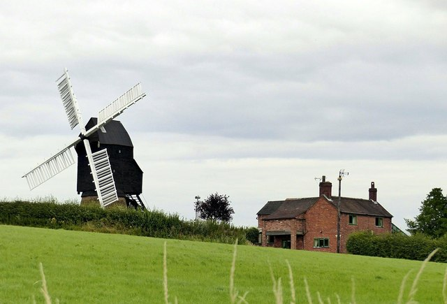 Cat and Fiddle windmill and Mill House