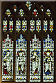 SP2864 : Stained glass window, St Mary's church, Warwick by Julian P Guffogg