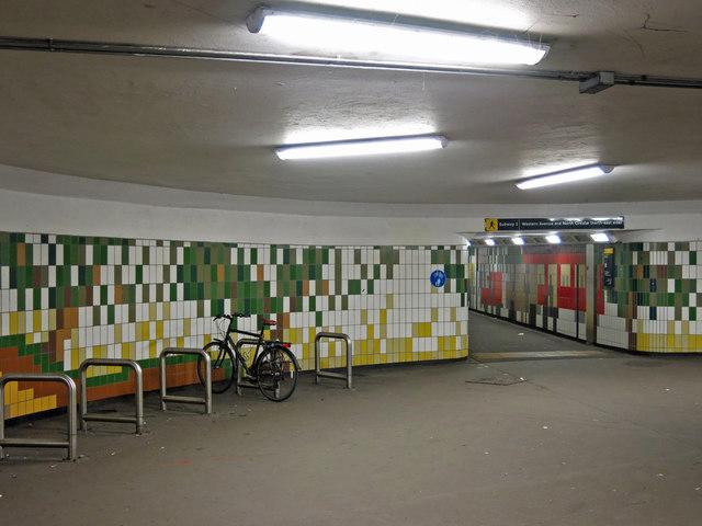 Underpass at Hanger Lane  tube station