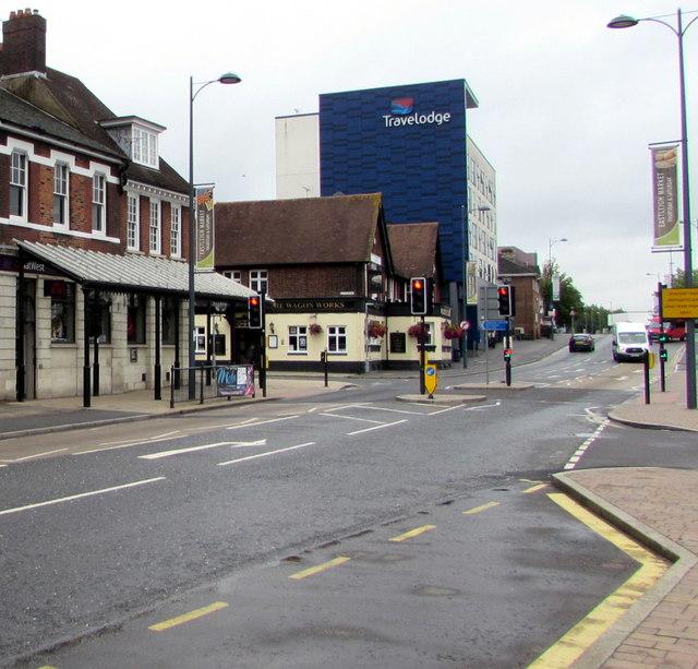 Southampton Road pelican crossing opposite Eastleigh railway station