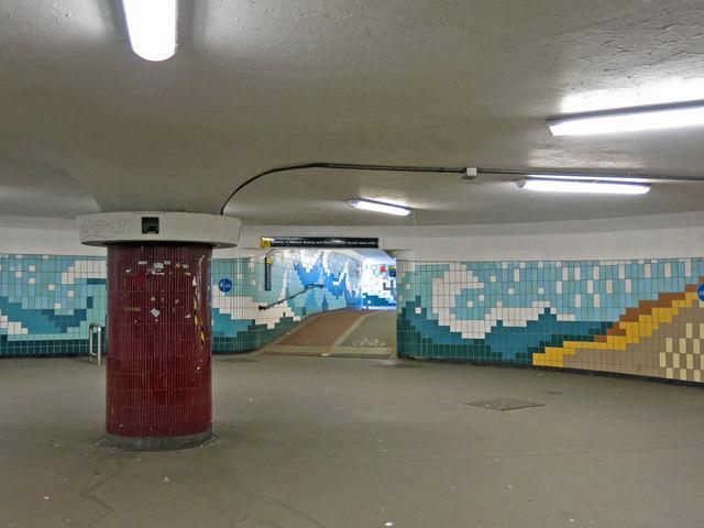 Underpass at Hanger Lane tube station (2)