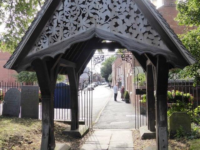 Lychgate at entrance to Bingham church