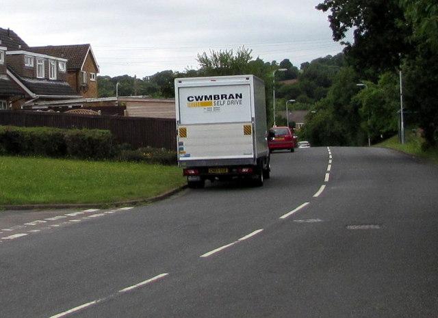 Cwmbran Self Drive van at the eastern edge of Pilton Vale, Newport