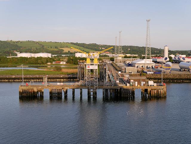 Jetty at Oil Terminal Berth 4, Belfast Harbour