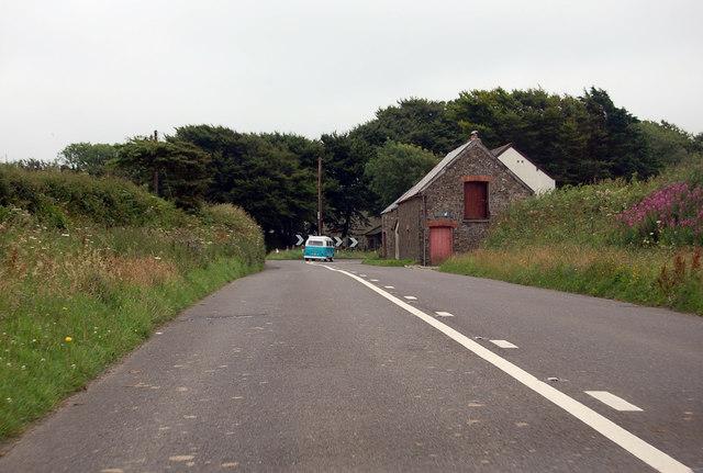A39 Bend near Lower Deptford
