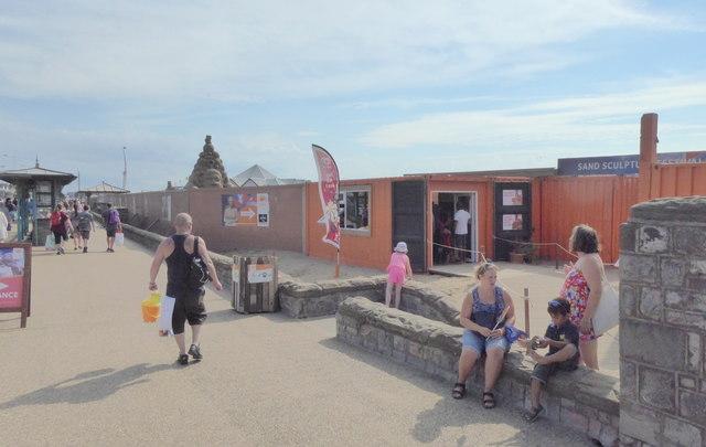 Entrance to Sand Sculpture Exhibition, Weston-Super-Mare