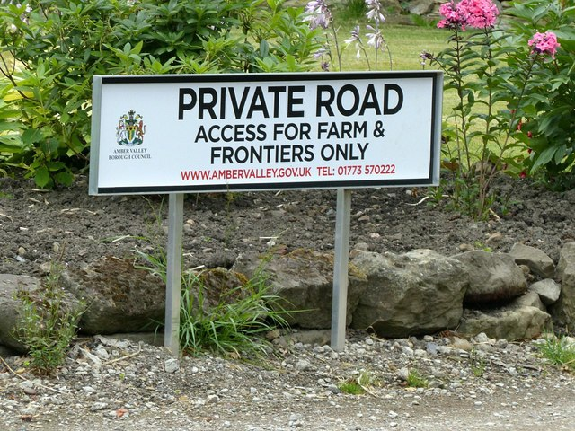 Access for farm and frontiers only