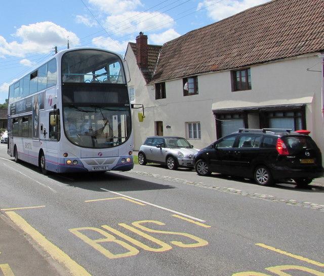 X49 double-decker, Westerleigh Road, Westerleigh