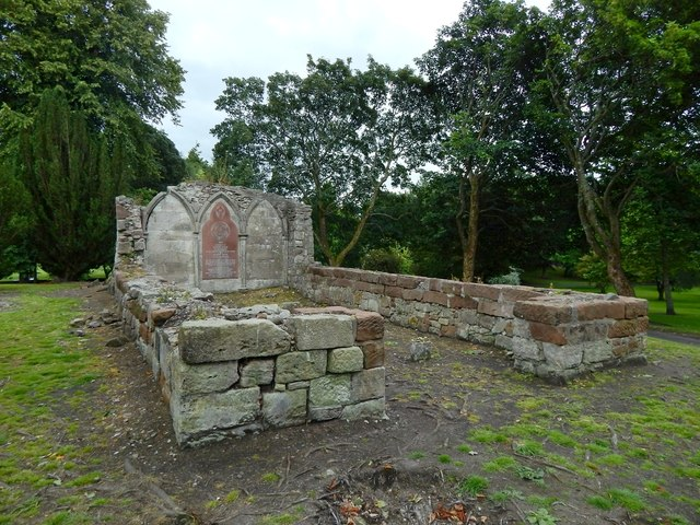 The ruins of St Serf's Church