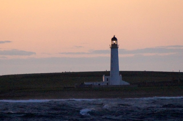 The lighthouse on Auskerry
