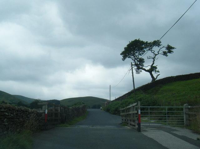 Cattle grid near Dryster Clough