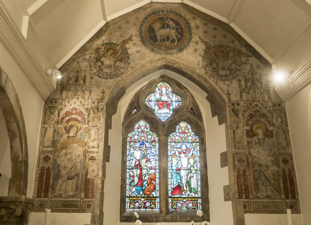 St Laurence, Telscombe - Wall painting