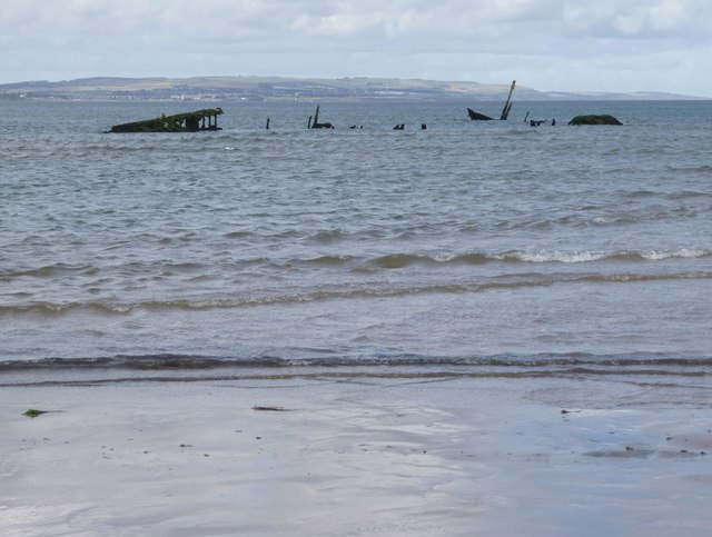 Wreck of the SS Werner Kunstmann on Goswick Sands