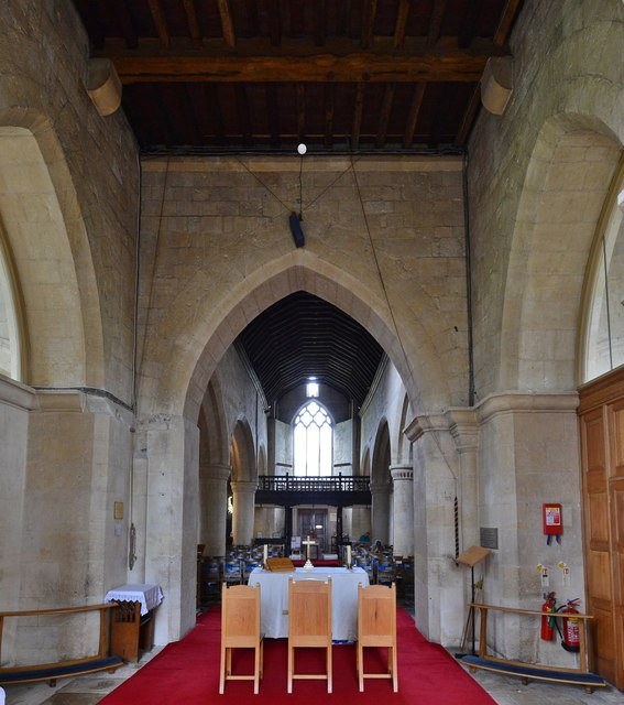 Bishops Cleeve, St. Michael and All Angels Church: Chancel and nave beyond