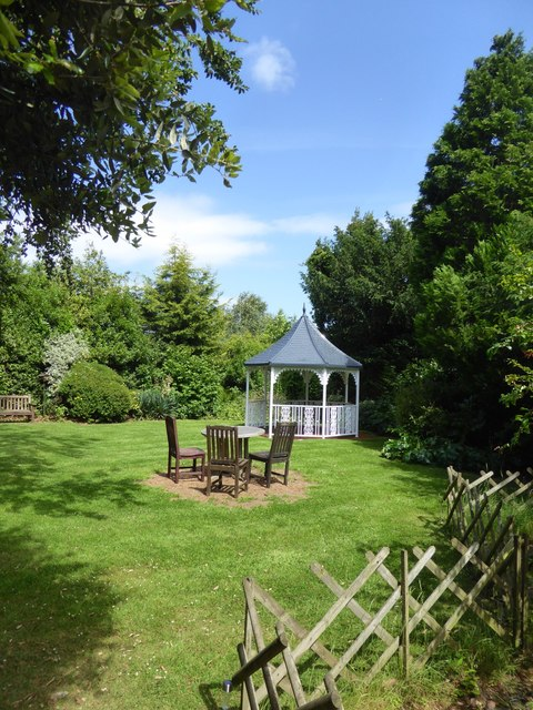 Secluded garden, Buckerell Lodge Hotel, Exeter