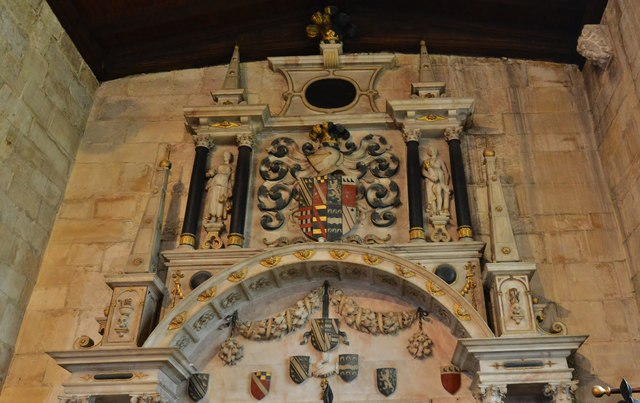 Bishops Cleeve, St. Michael and All Angels Church: c17th memorial to Richard and Margaret de Vere