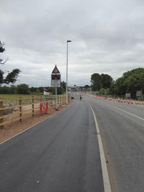 Construction work, Bridge Road, Exeter