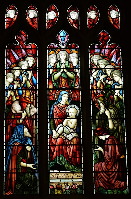 Bishops Cleeve, St. Michael and All Angels Church: Stained glass window 2